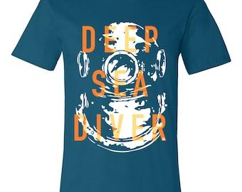 T-SHIRT KOMOA Deep sea diver blue