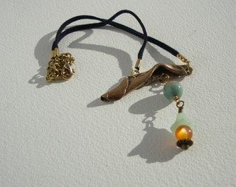 ras bronze ethnic neck collar