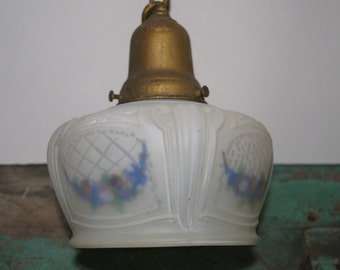 1930's Frosted Lampshade