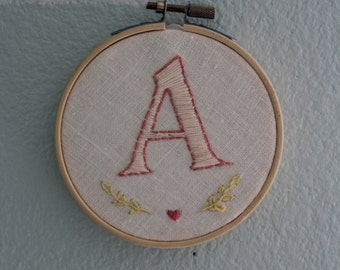 Custom Monogram Letter Embroidery