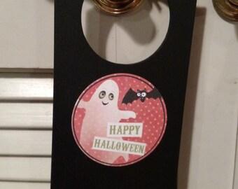 """Halloween Decorative Door Hanger """"Happy Halloween"""""""""""