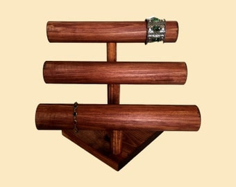 3-Tier Bracelet Display Watch Display T-Bar / Watch Stand / Bracelet Stand / Jewelry Holder Organizer / 10 Color Choices!
