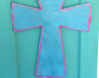 Wooden Cross Doorhanger