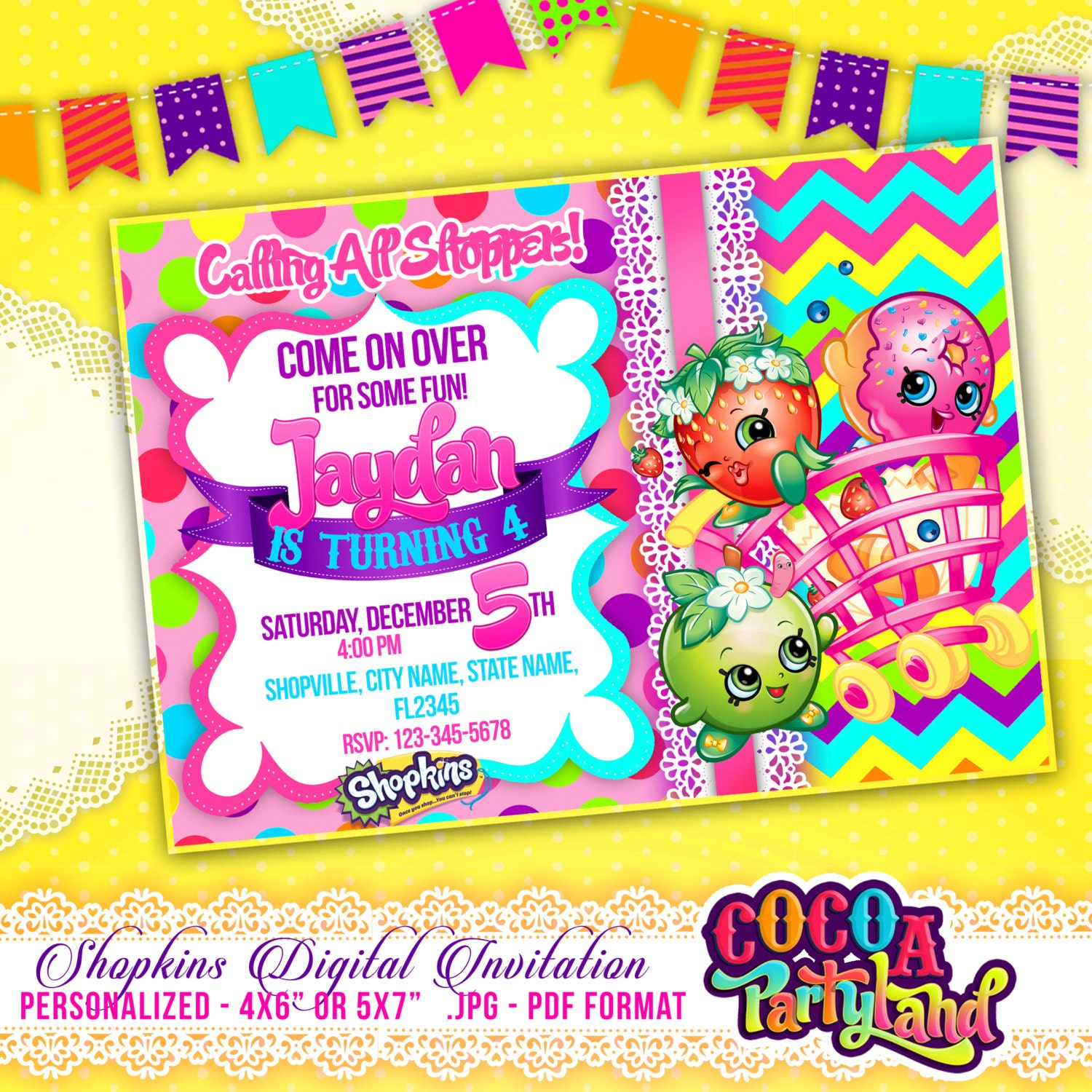 It's just a picture of Rare Shopkins Printable Invitations