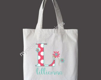 Customizable Personalized Girls Tote Bag Overnight Bag Dance Bag