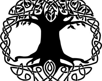 Celtic Knot Tree of Life vinyl decal