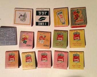 1950s vintage ad matchbooks