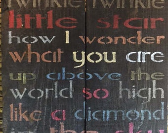 Twinkle, Twinkle Rustic ,Adorable, Wood Pallet, Adorable, Inexpensive, Holiday, Children's Room, Sign