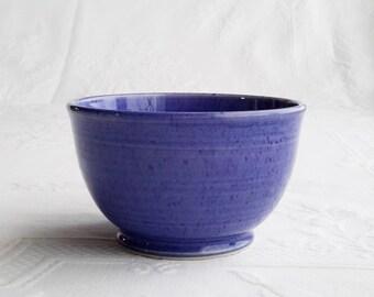 ceramic café au lait bowl, pottery bowl, handmade blue bowl, cereal bowl, soup bowl, ceramic bowl, ready to ship
