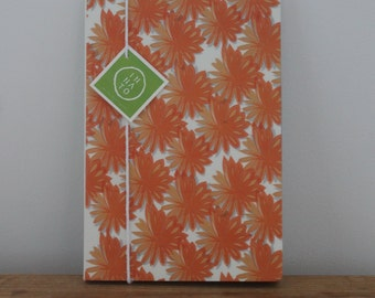 Orange flowers Illustrated Notebook