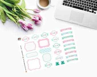 Decorative Labels and Ribbons  for Erin Condren Life Planner -  Planner Stickers CAM00193