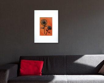 Sun's Rays original acrylic painting of sunflowers