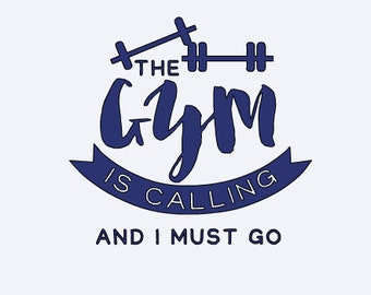 Gym - Workout - The Gym is Calling My Name - Gym Decal - Yeti Sticker - Funny Yeti Decal - Funny Yeti Decal