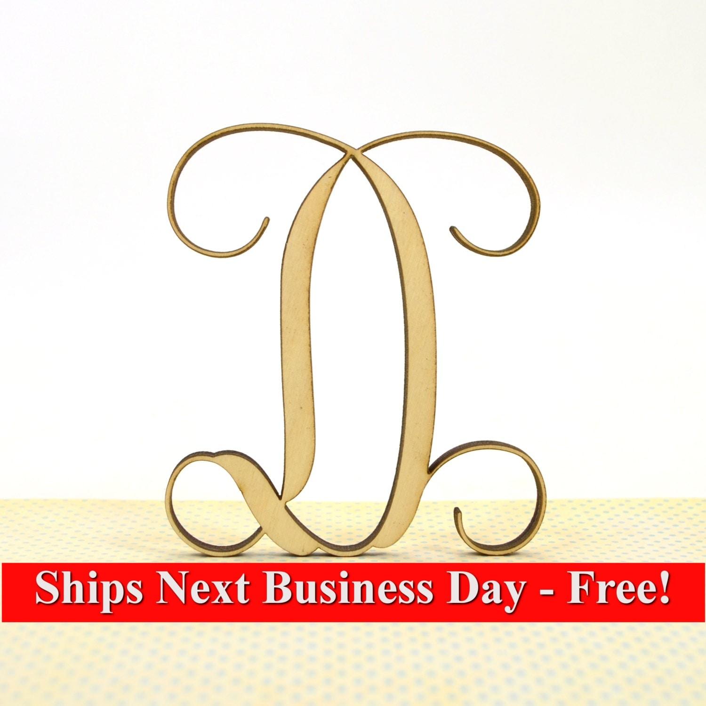 Vine Monogram Letter D Home Decor Great Gift
