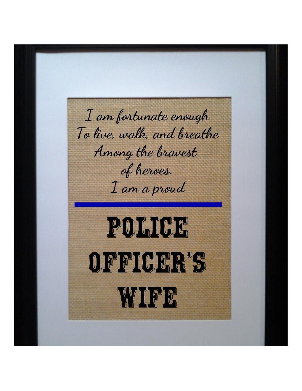 Thin Blue Line Burlap Print Police Officer 39 S Wife Decor