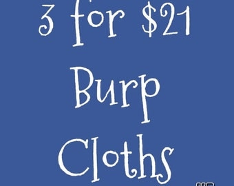 Burp Cloth Trio