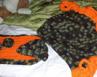 Baby Blanket, lovey and booties set