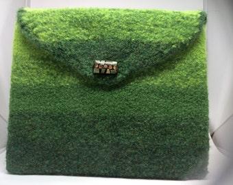 Rainforest Green Clutch Purse  OR iPad/Tablet Case