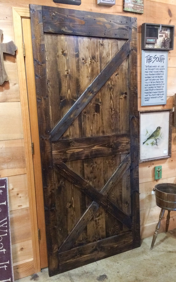 Rustic Barn Door Farmhouse Door Hand Crafted Barn Door