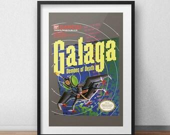 Galaga Original NES Box print