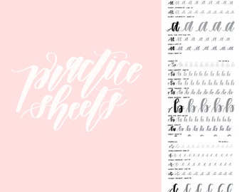 Lowercase Letters A - Z  {Full Alphabet} | Hand Lettered Practice Sheets | Downloadable PDF | Printable |