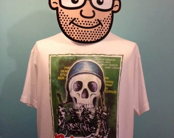 Psychomania - Cult Horror / Biker Film T-Shirt (Beryl Reid / George Sanders) - White Shirt