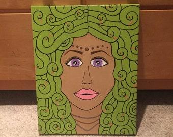Medusa head painting