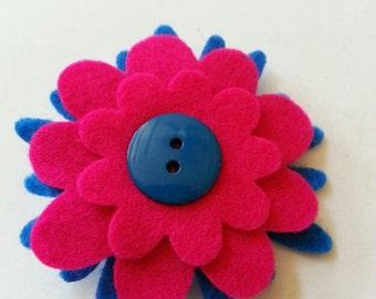 Hair Clip with Felt Flower
