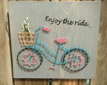 Bicycle String Art - Enjoy the Ride