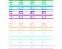 YouTube Filming Planner Stickers   Bold and Pastel   DIGITAL Download