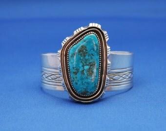 Vintage Turquoise Cuff Bracelet, Navajo Turquoise Bracelet, Turquoise Bracelet, December Birthstone, Cuff Bracelet, Navajo, Native American