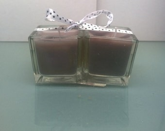 Pair of lilac table candles