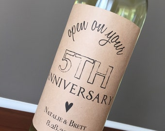 Anniversary Wine Labels, Wedding Wine Labels, Engagement Gift, Wedding Gift, Shower Gift, WINE LABELS, Guest Book Wine Labels