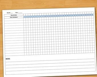Goal template a5 goal list goal sheet goal tracker monthly daily habit tracker habit planner monthly habit printable checklist printable monthly checklist pronofoot35fo Gallery