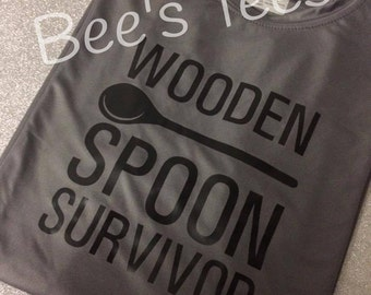 Wooden Spoon Survivor Shirt, Wooden Spoon Survivor T-shirt, Men's Gifts, Funny shirt, I survived the wooden Spoon
