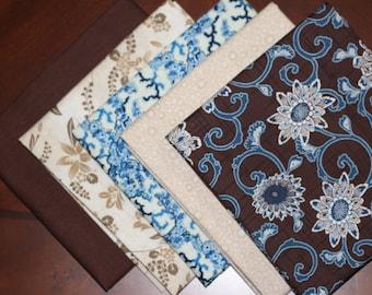 Kona Bay, Coral Tree Fabrics and Newcastle's fat quarter combination, a 5 piece bundle.