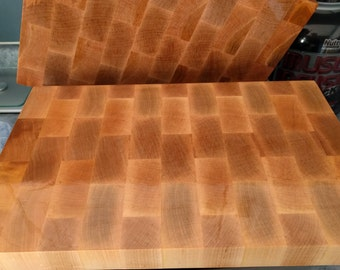 Butcher Block End Grain Cutting Board - Hard Maple