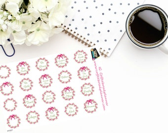 Planner Stickers| Inspirational Floral Wreaths|Floral Wreath Stickers|Envelope Seal Stickers|For use in various planners and journals|FF001