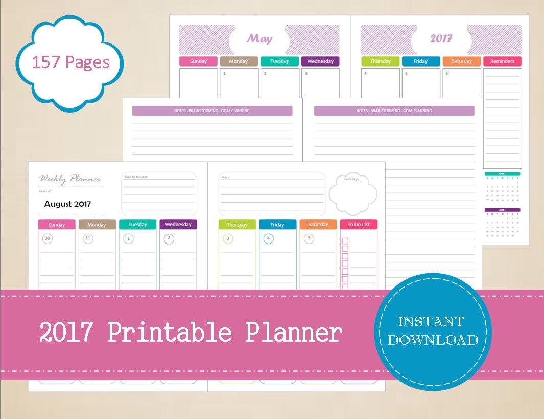 Calendar Planner Pdf : Printable planner half page weekly