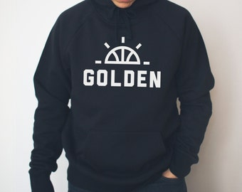 Golden Sunrise Hoodie | Hella Healthy | Plant Based Apparel | Veggie Centric | Kale | I Stay Woke | Golden
