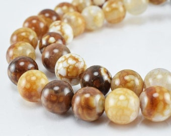 New Agate Gemstone Round Beads 6mm/8mm Natural Stones Beads natural healing stone chakra stones for Jewelry Making
