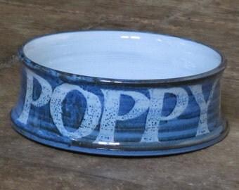 "Personalised dog bowl ""POPPY"""