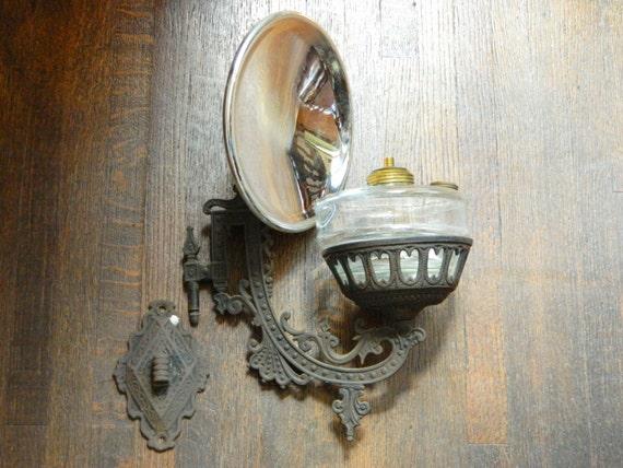 Antique Oil Lamp Cast Iron Oil Lamp Cast Iron Sconce