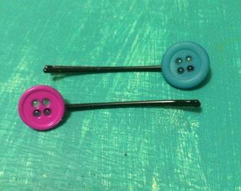 Button Barrettes