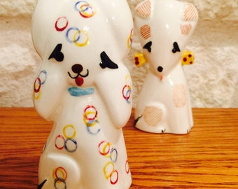 Vintage Art Deco Modern Dogs Salt and Pepper Shakers by Napco