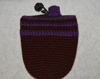 Gradient Purple Crochet Chalk Bag