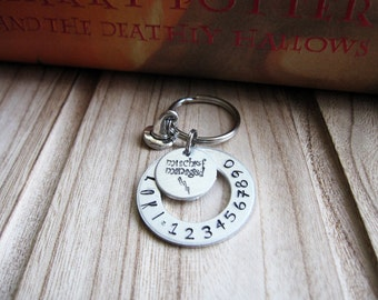 """Personalized Pet ID Tag """"Mischief Managed"""" - """"I solemnly swear I am up to no good"""" - Hand stamped - wizard hat charm - Harry Potter inspired"""