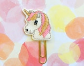 SALE CLEARANCE DESTASH, Planner Clip, Unicorn Planner Clip