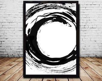 Printable poster Printable Wall Art Black and white Print download