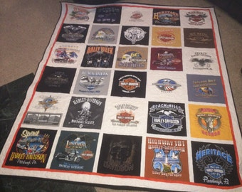 DOUBLE SIDED, custom made TShirt Quilt. (Deposit)